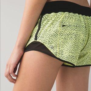 Lululemon Neon Yellow Polka Dot Hotty Hot Shorts 4